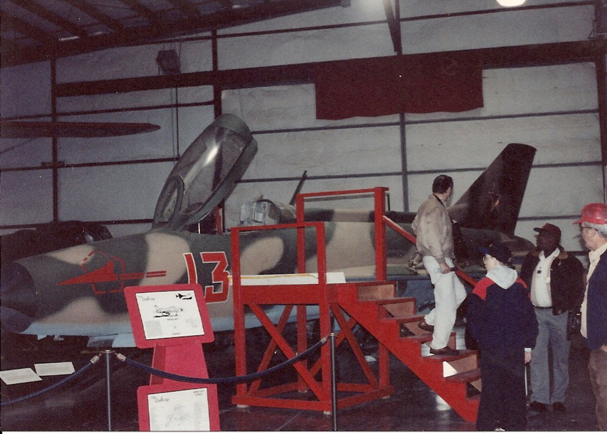 The MiG-21 at the Paul E. Garber Facility.
