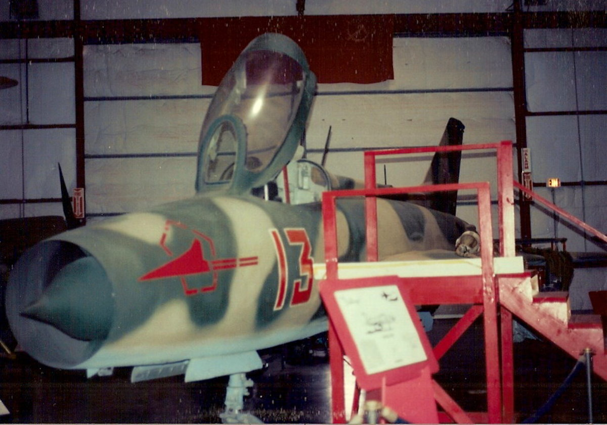 The MiG-21 at the Paul E. Garber Facility, Silver Hill, MD.