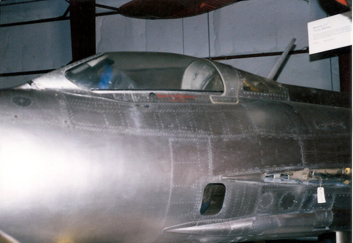The MiG-21 at the Paul E. Garber Facility, April 1998.