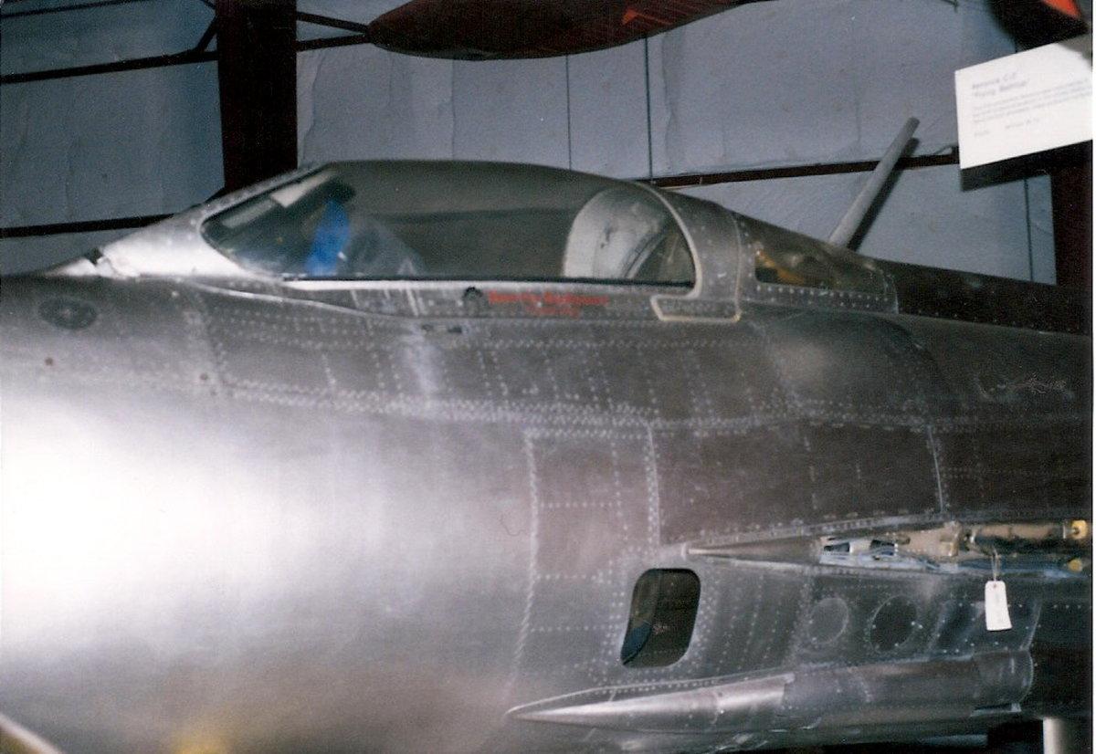 The MiG-21 at the Paul E. Garber Facility, April 1998.