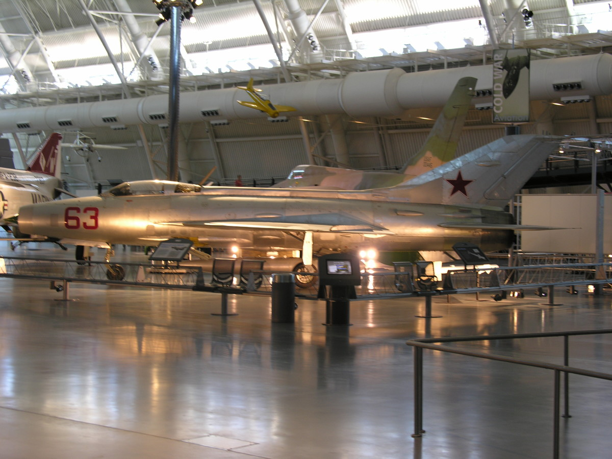 The MiG-21 at the Udvar-Hazy Center, June 2010.
