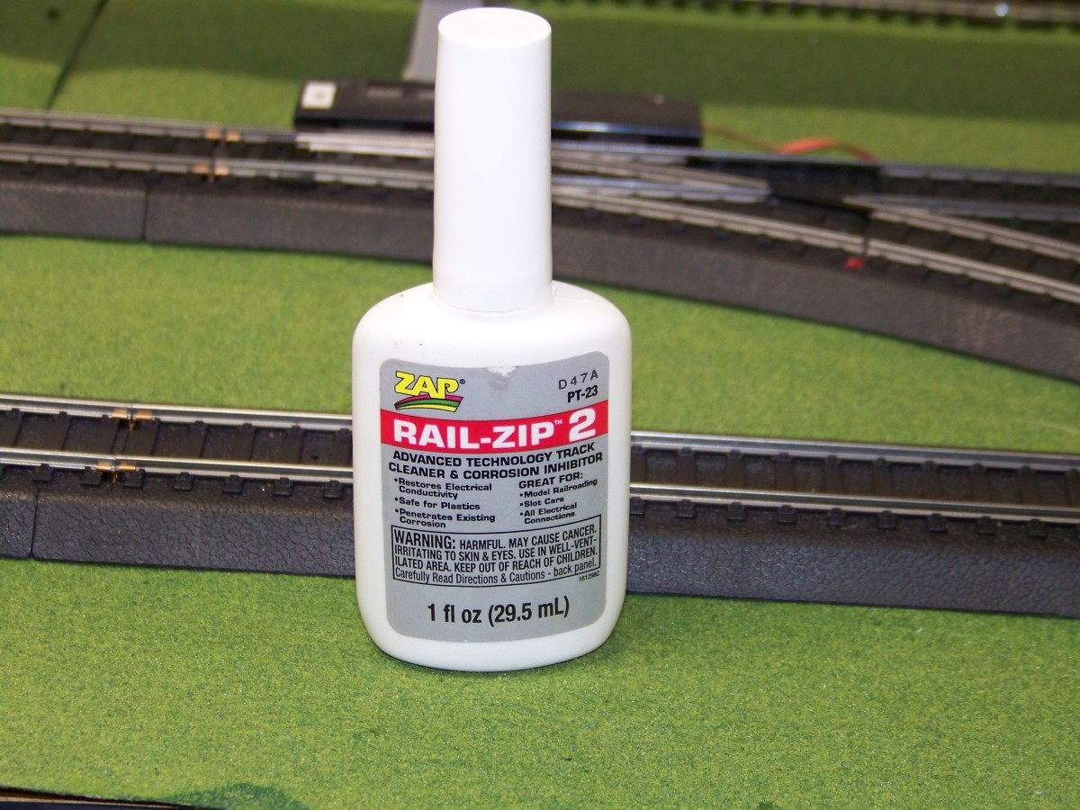 I use Rail-Zip to to clean my tracks of dirt and carbon from electrical arcing and to condition the tracks.
