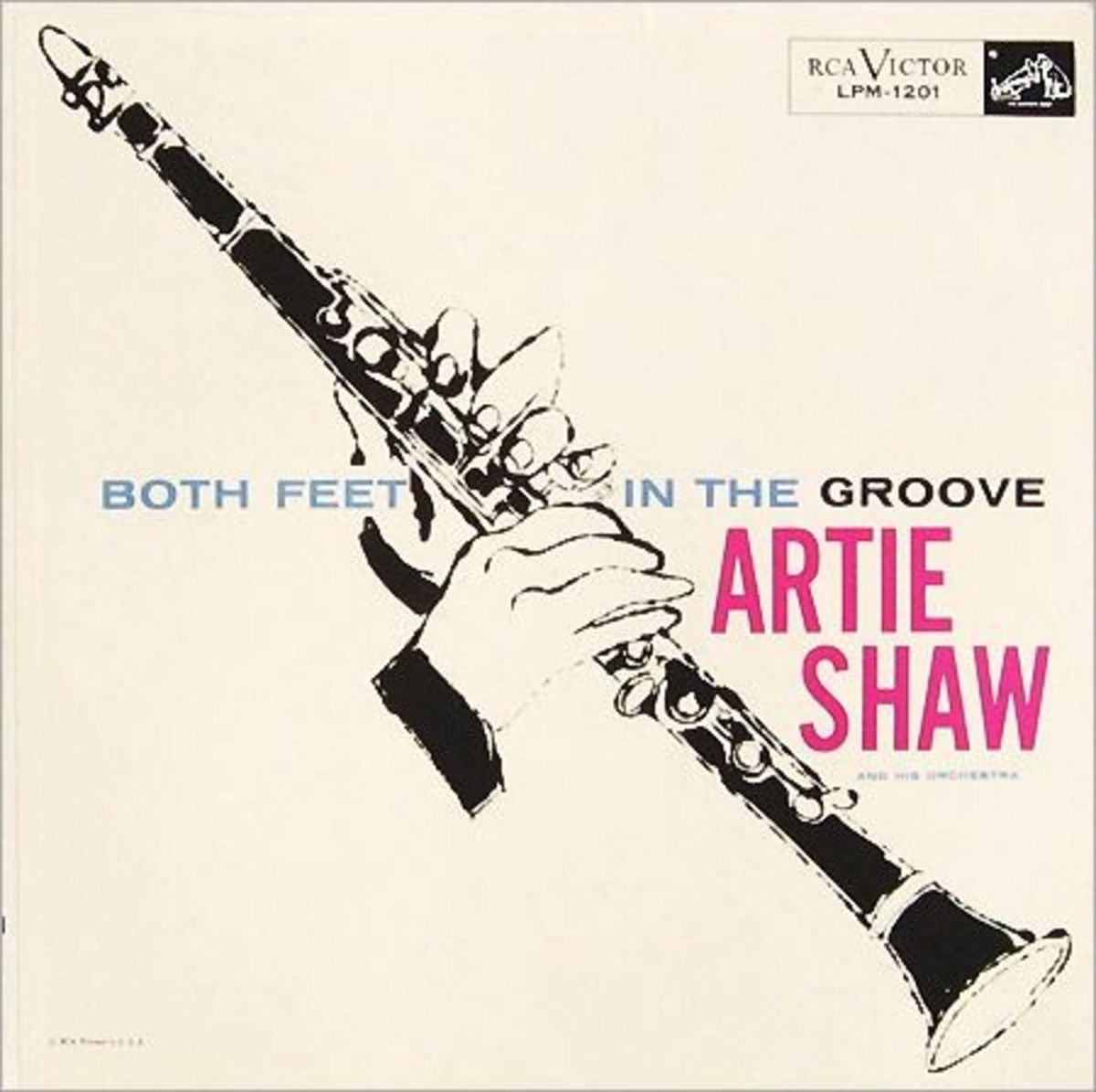 "Artie Shaw ""Both Feet In The Groove"" RCA Victor 1201 12"" LP Vinyl Record, Album Cover Illustrations by Andy Warhol"