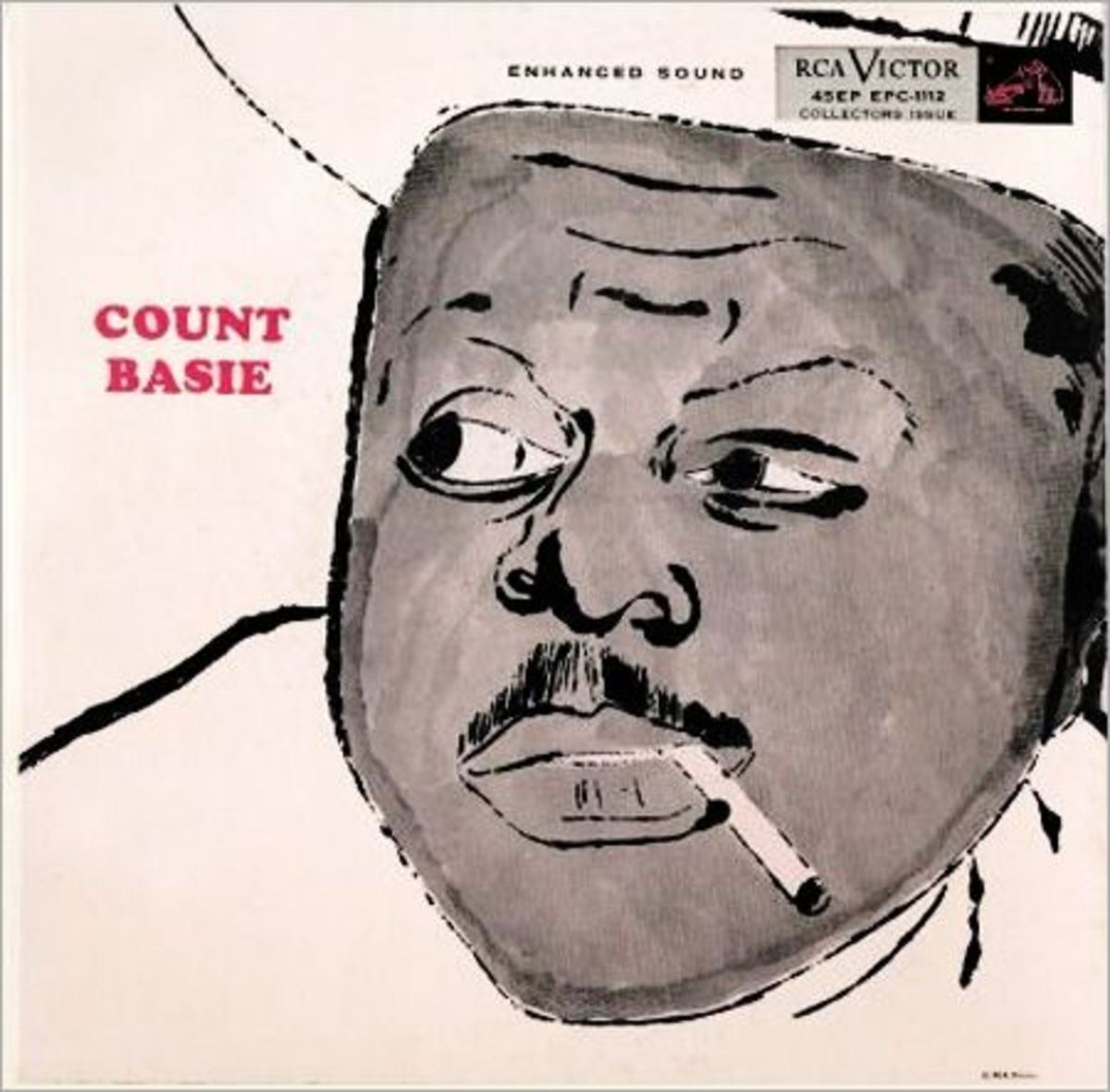 "Count Basie RCA Victor Records EPC-1112  Vintage 7"" Vinyl EP 1955 Cover Illustration by Andy Warhol"
