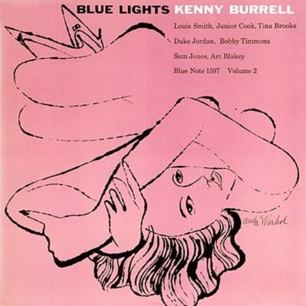 "Kenny Burrell ""Blue Lights, vol. 2"" Blue Note Records BLP 1596 12"" LP Vinyl Record with Album Cover Art by Andy Warhol"