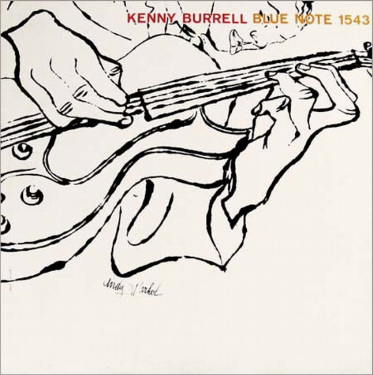 "Kenny Burrell, vol. 2 Blue Note Records BLP 1543 12"" LP Vinyl Record, Album Cover  Illustration by Andy Warhol"