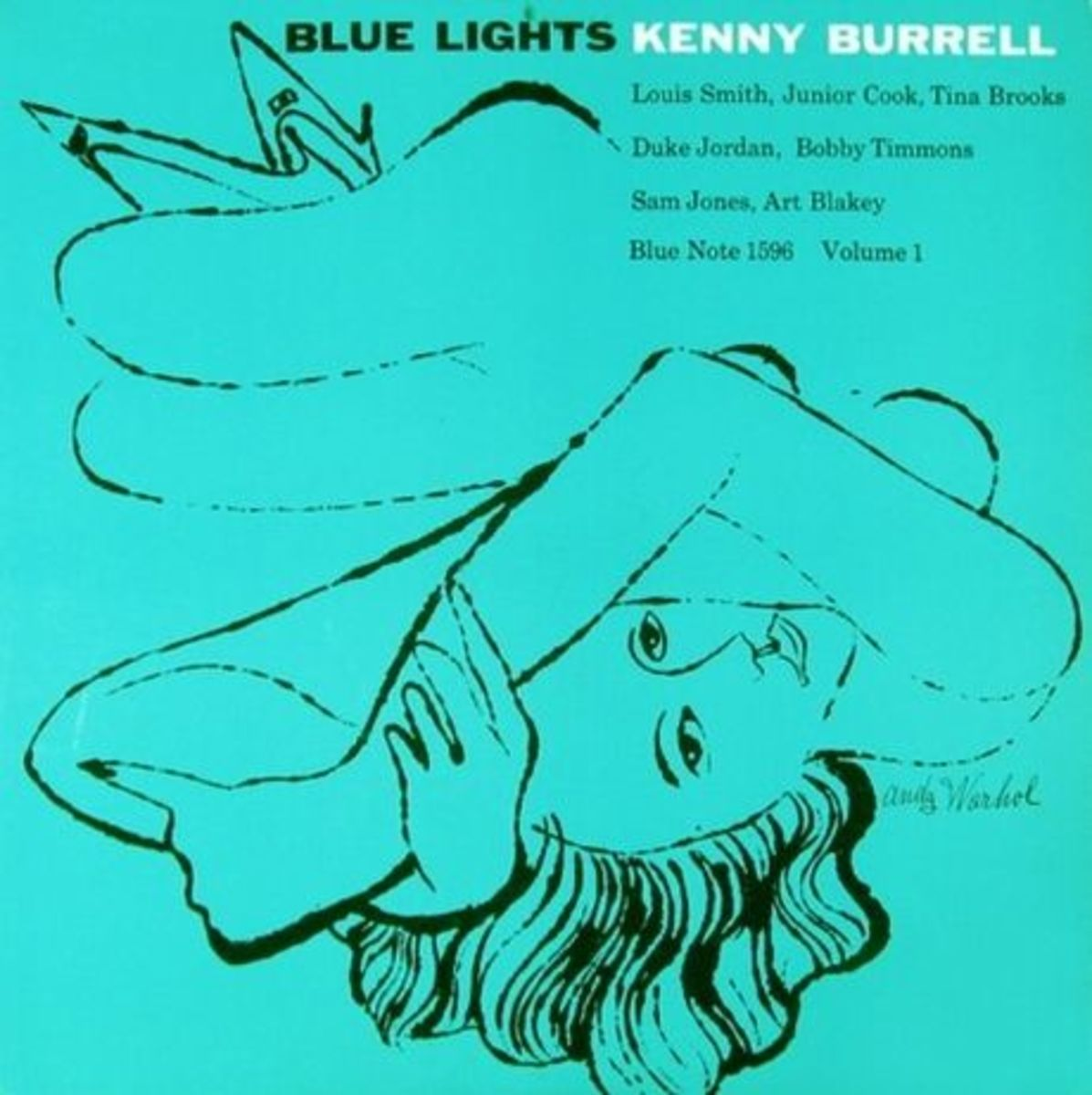 "Kenny Burrell ""Blue Lights, vol. 1"" Blue Note Records BLP 1596 12"" LP Vinyl Record with Album Cover Art by Andy Warhol"