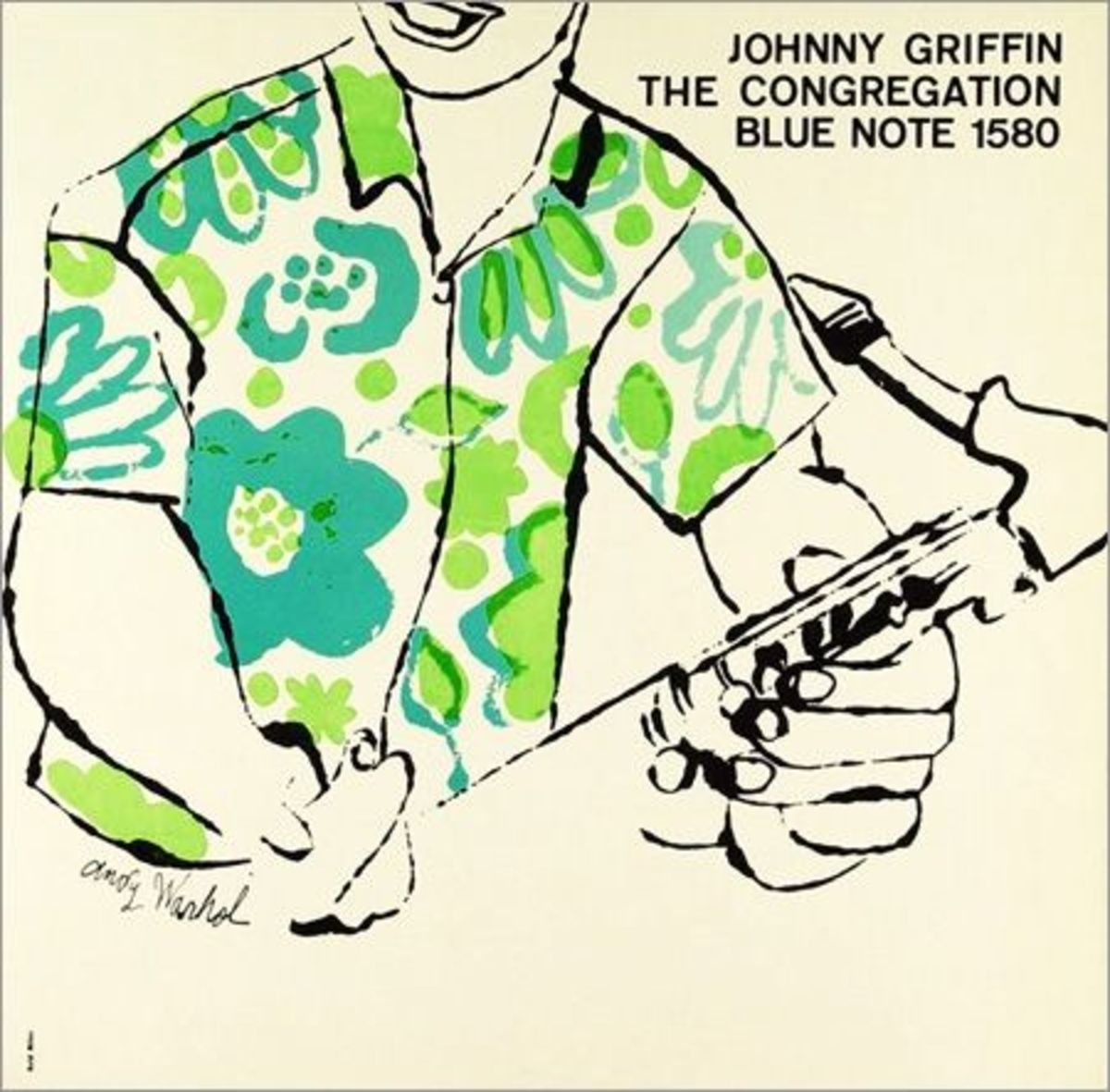 "Johnny Griffin ""The Congregation"" Blue Note Records BLP 1580 LP Vinyl Record with Album Cover Art by Andy Warhol"