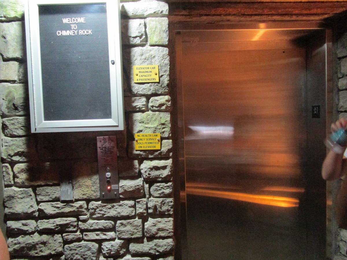 Stainless Steel door to the Elevator.