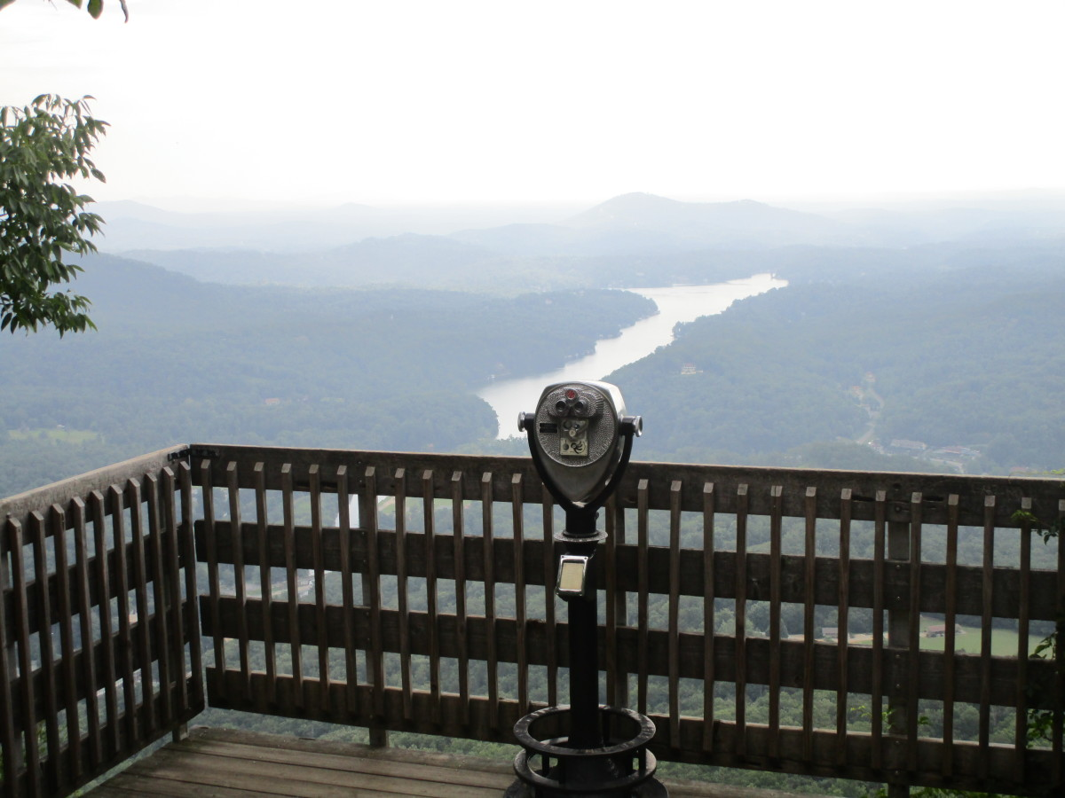 Overlook to view Lake Lure.