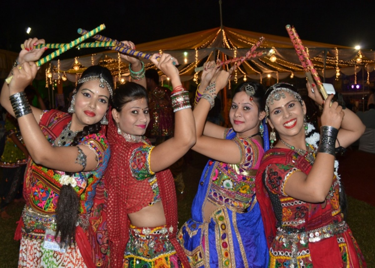 Dandiya and Garba is a community music and dance festival