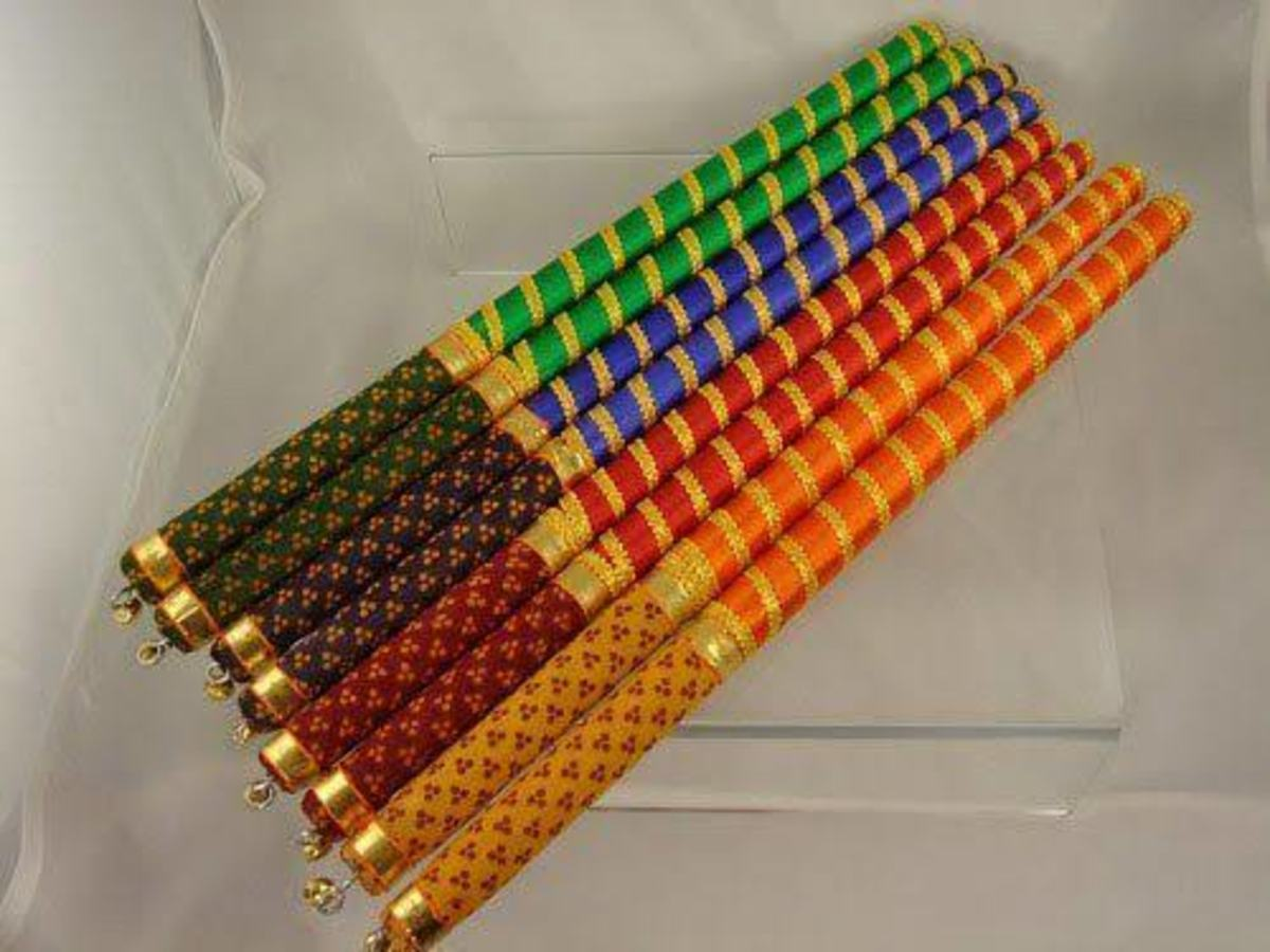 Colourful Dandiya Sticks