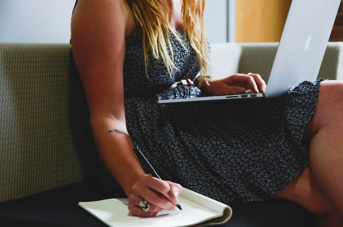 A woman freelancer.