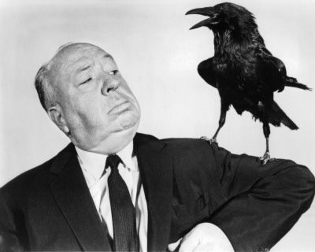 Alfred Hitchcock with Crow