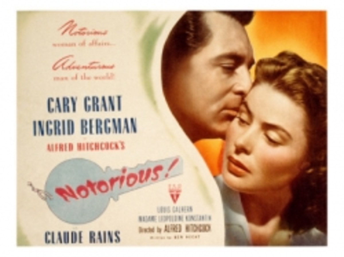 alfred hitchcock notorious movie poster cary grant