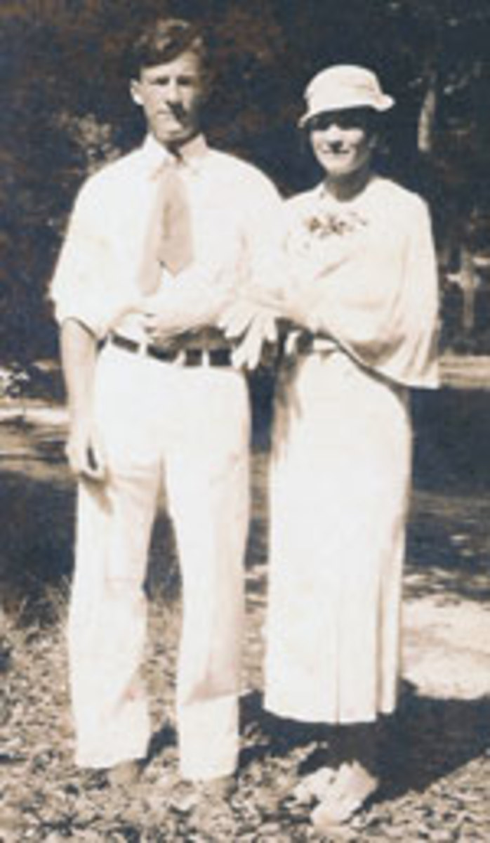 Walter and Agnes at their wedding.