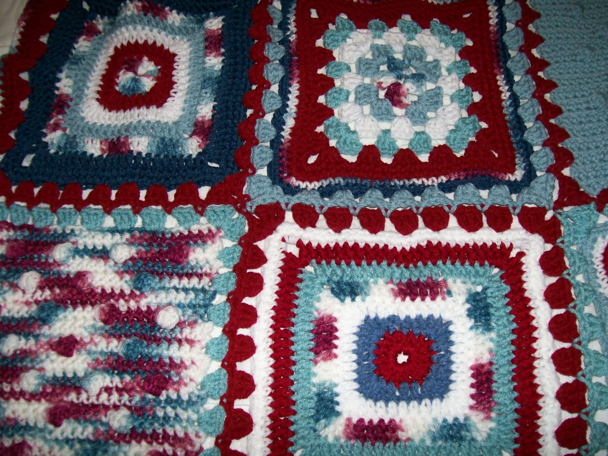 Granny, Bobble, and Smooth (circle center) Squares