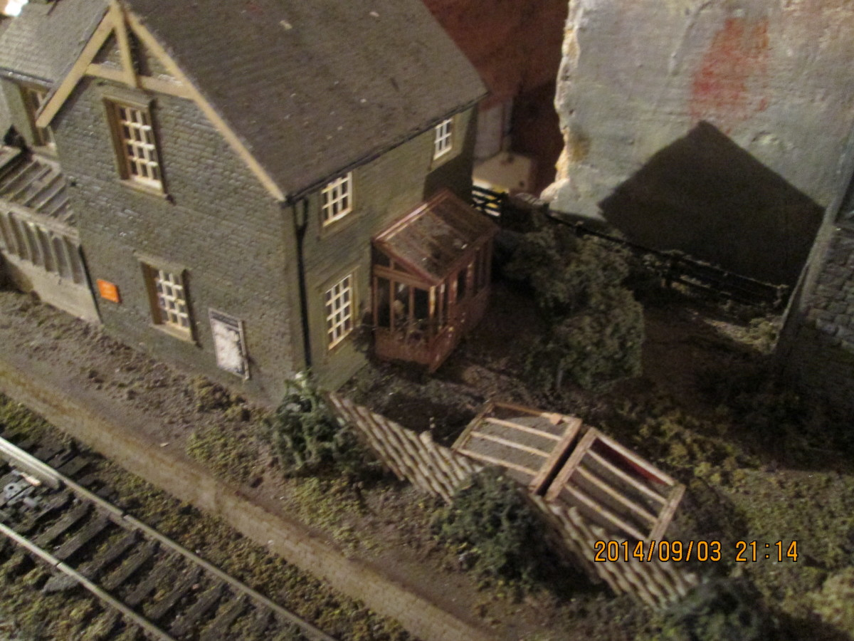 Much of this layout is scratch-built or kit-built, in particular the scratch-built station house and station building based on many in the North East taken over by British Railways in 1948