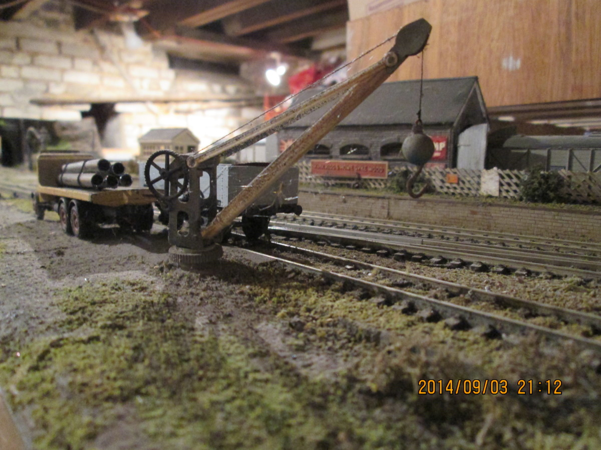 A Wills kit, easy to assemble - and it's a working model (after a fashion)! The goods shed can be seen in the background