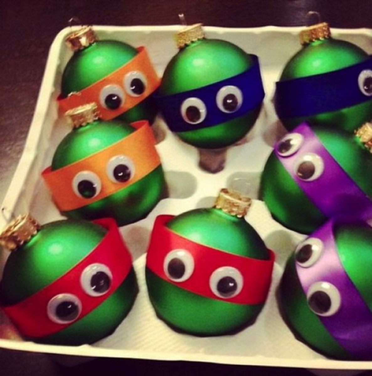 NINJA TURTLES BALL ORNAMENTS, DIY