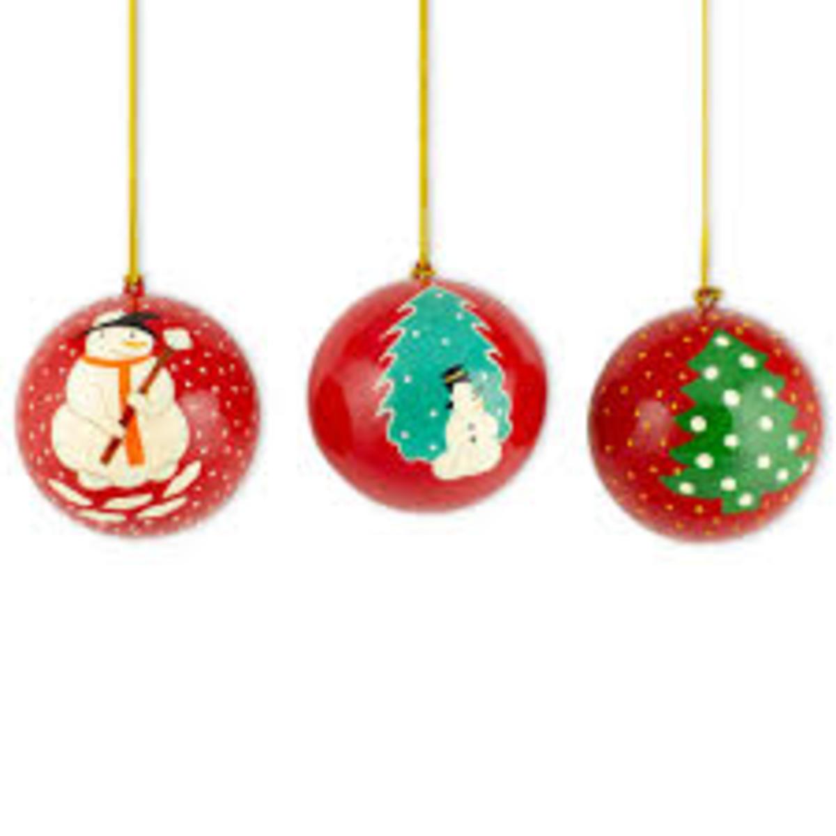 Cute Ball Christmas Tree Ornaments