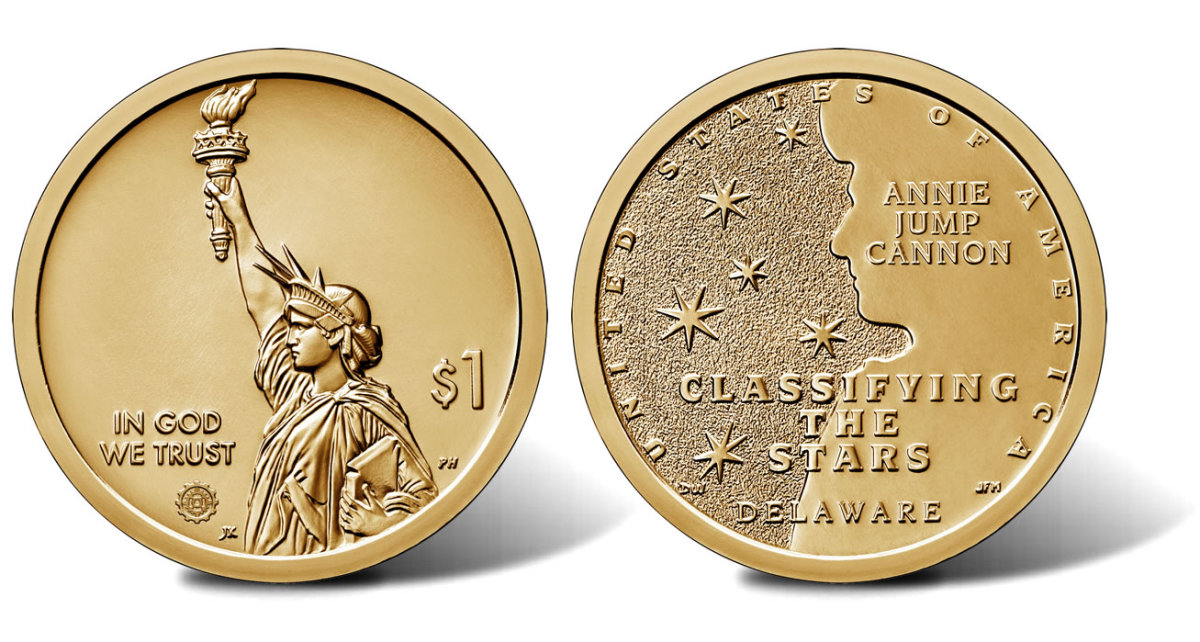 2019 Delaware Cannon Dollar issued in honor of Annie Jump Cannon.