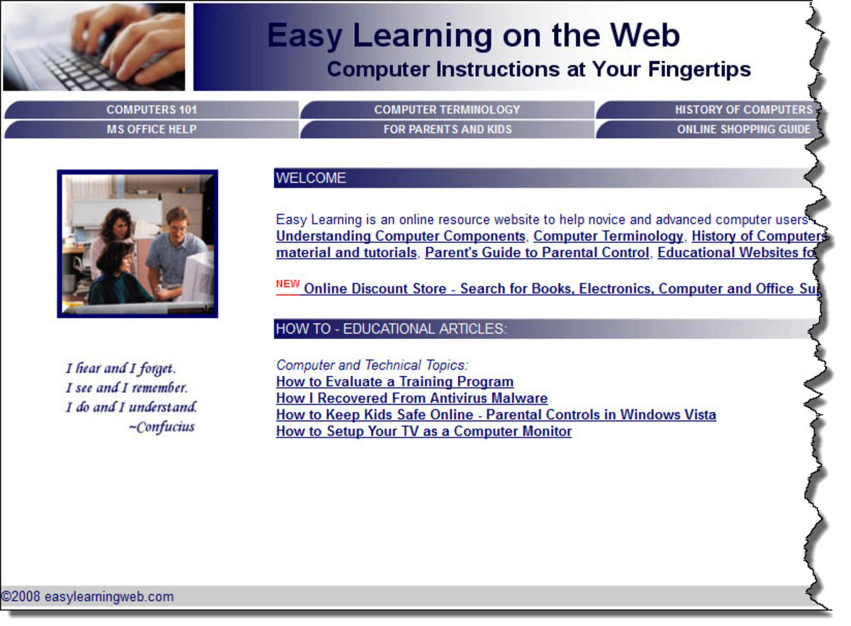 Easy Learning on the Web