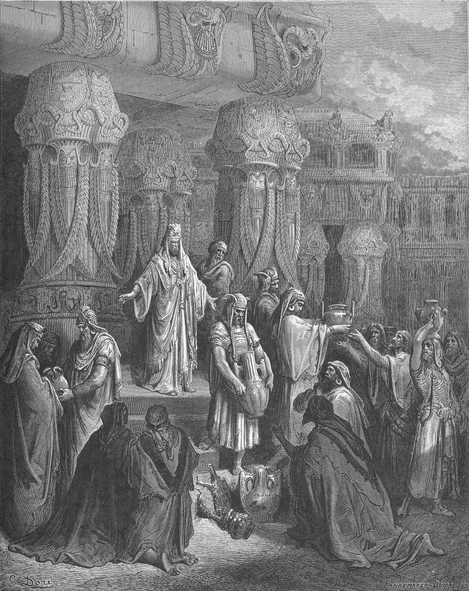 Cyrus restores the vessels of the temple