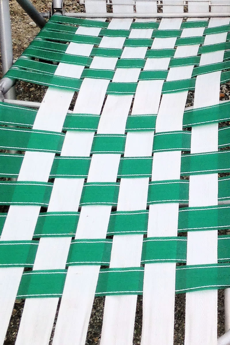 Weave Pattern on Vintage Webbed Lawn Chairs