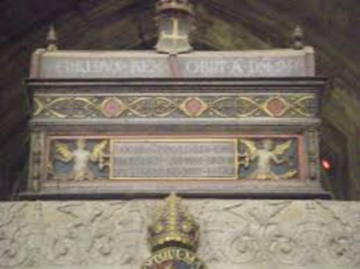 16th century mortuary chest believed to hold the remains of Alfred the Great