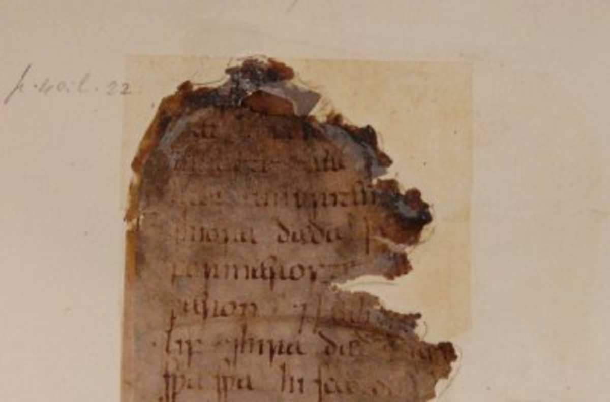 """The earliest original manuscript of the """"Old English Boethius,"""" displayed in the British Library."""