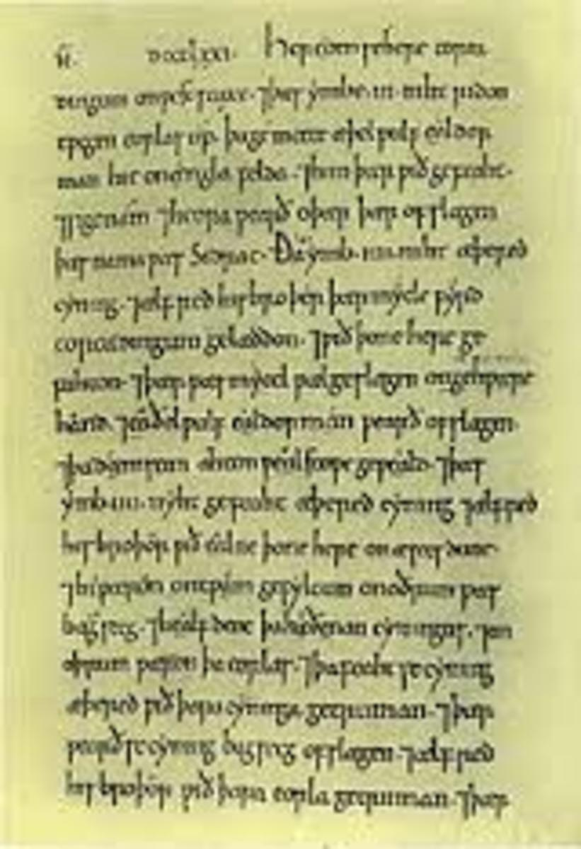 "A page from the ""Abington Chronicle,"" of the ""Anglo-Saxon Chronicle,"" of which Alfred was a patron."