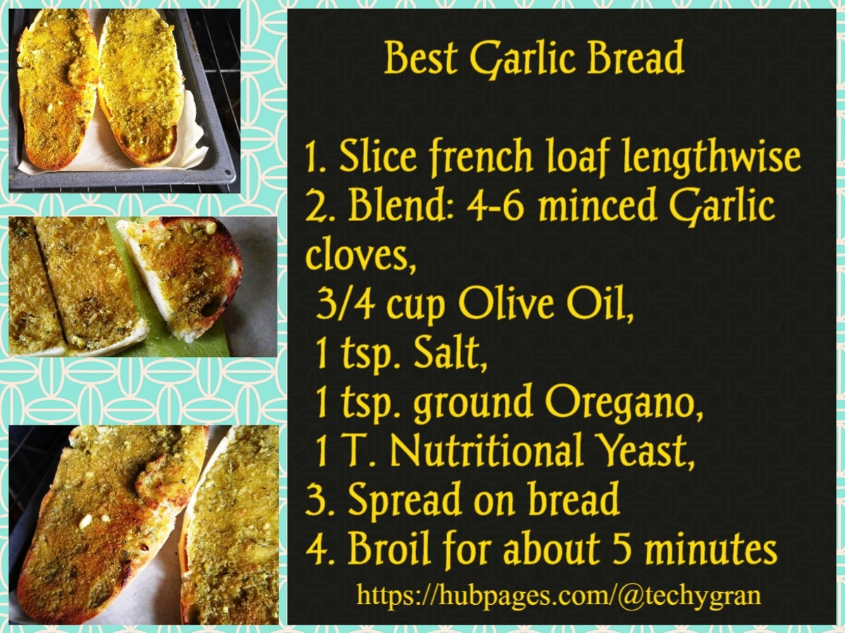 The secret is the olive oil to replace the unhealthy margerine and other fats in the commercial garlic bread.