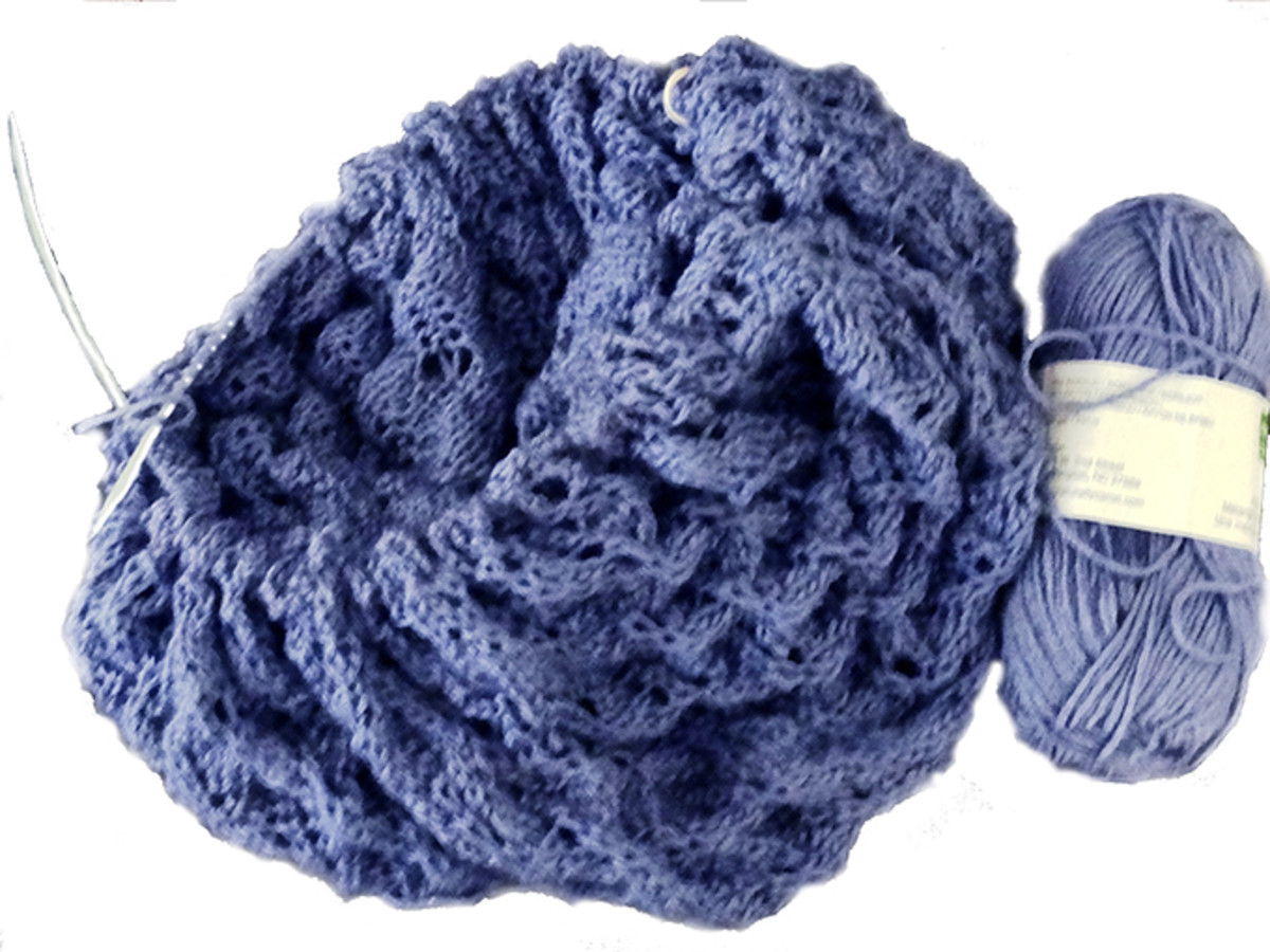 I love knitting lace shawls.