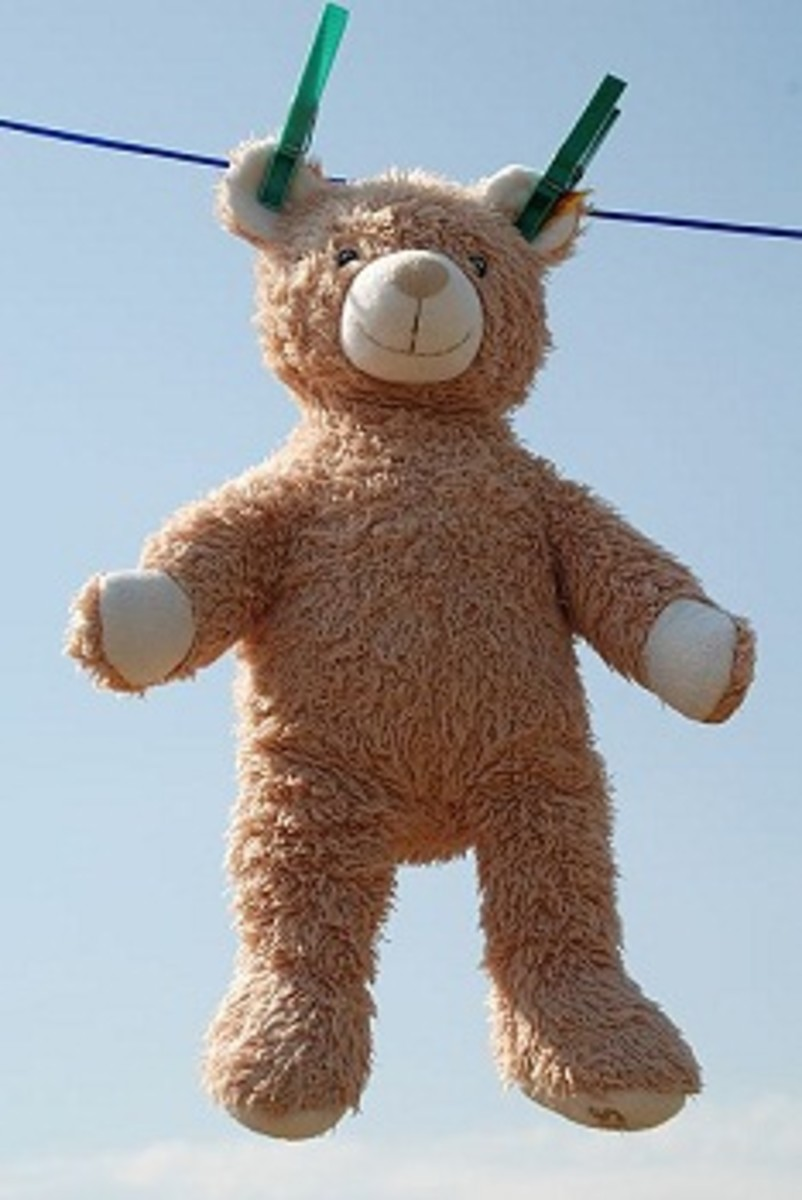 Don't do this to your antique or vintage teddy bear.