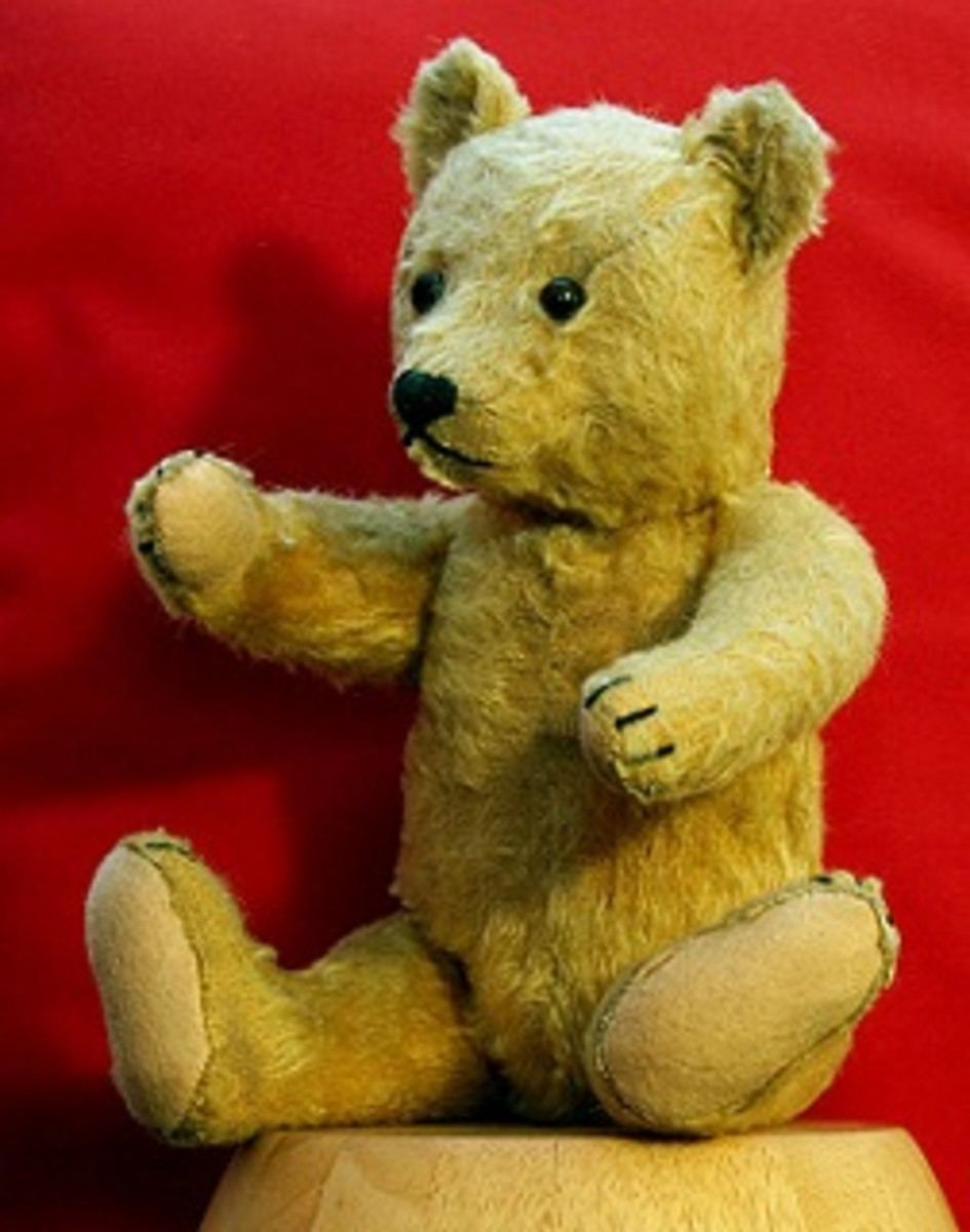 Teddy bear from the 1950s