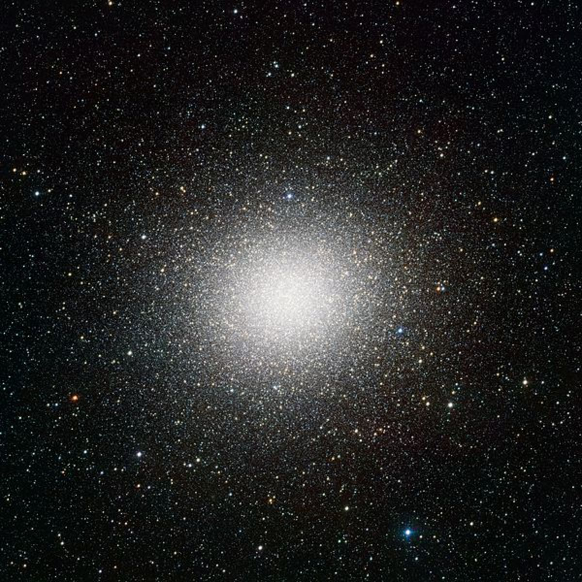 The second released VST image may be the best portrait of the globular star cluster Omega Centauri ever made. Omega Centauri, in the constellation of Centaurus (The Centaur), is the largest globular cluster in the sky, but the very wide field of view