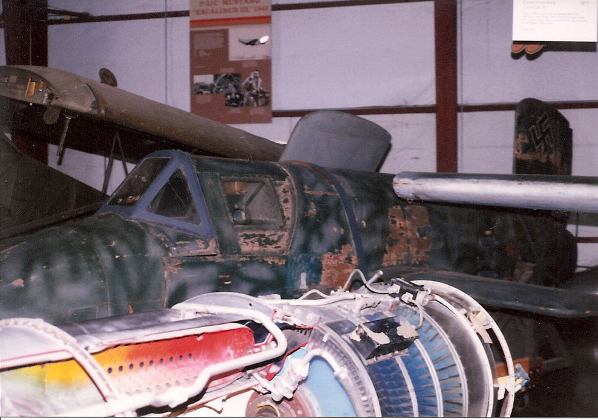 The Smithsonian's Ba-349 Natter at the Paul E. Garber facility, Silver Hill, MD, April 1998.