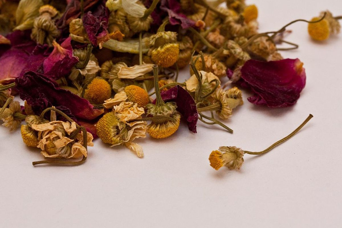 Fresh or dried herbs can be used to make successful bath teas and sachets.