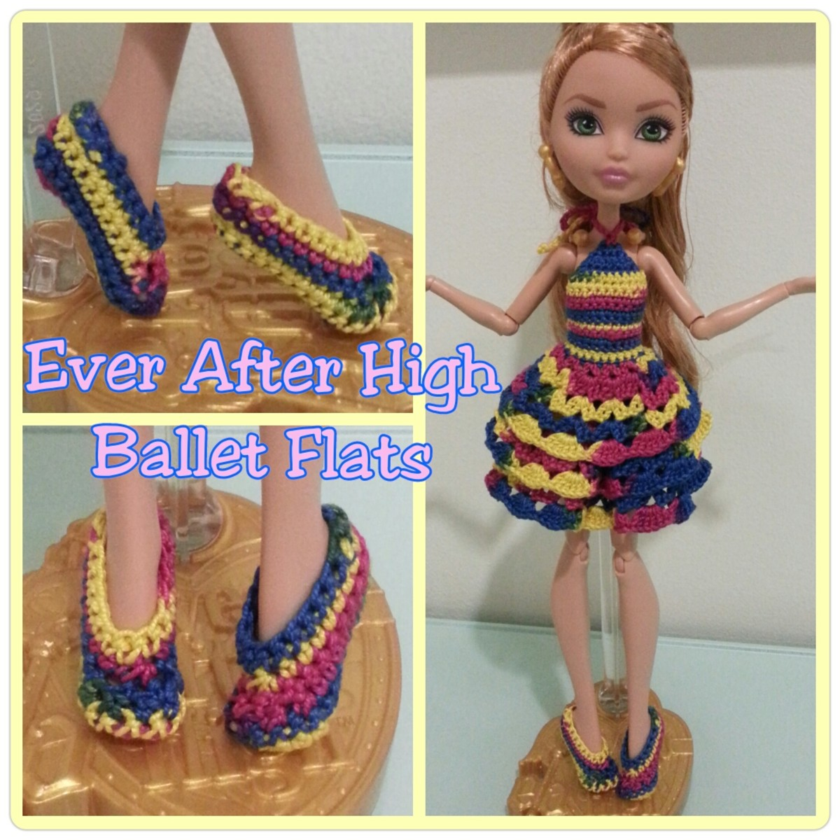 Ever After High Ballet Flats (Free Crochet Pattern)