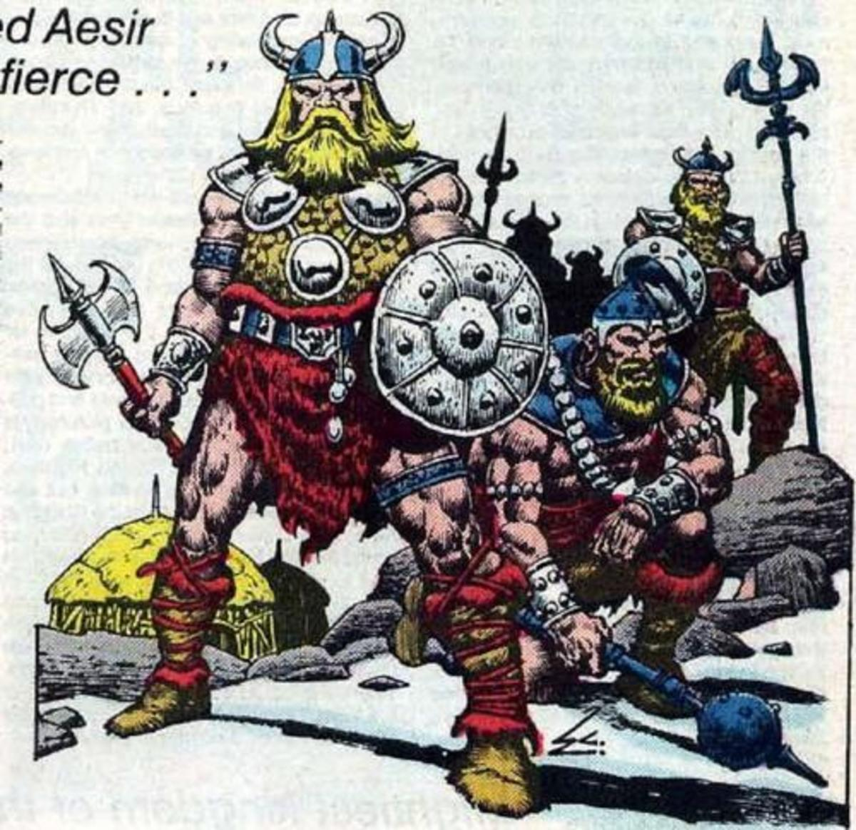 Fierce Aesir Warriors of Asgard