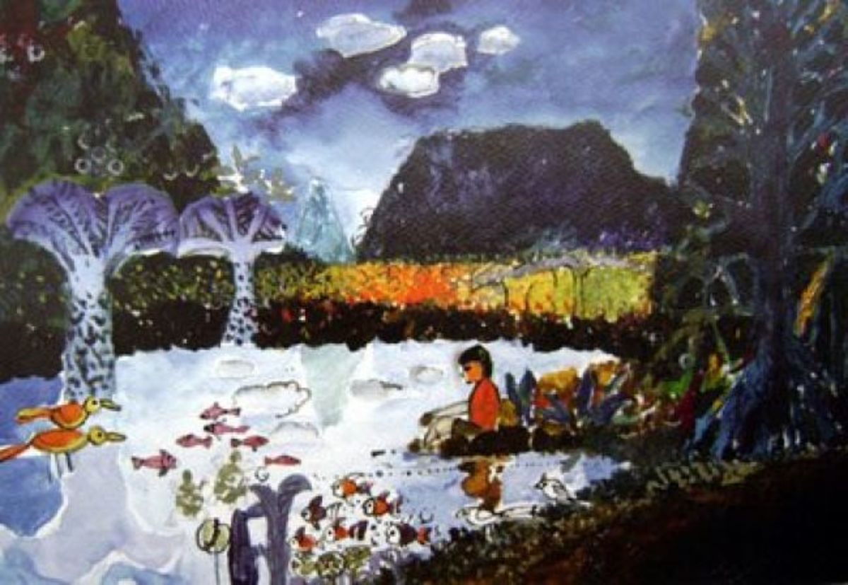 Water color painting by Samir Mondal used as the painting of  Ishaan in Taare Zameen Par.