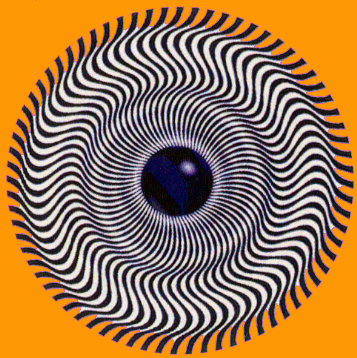Swirling lines optical illusion from a centre eye