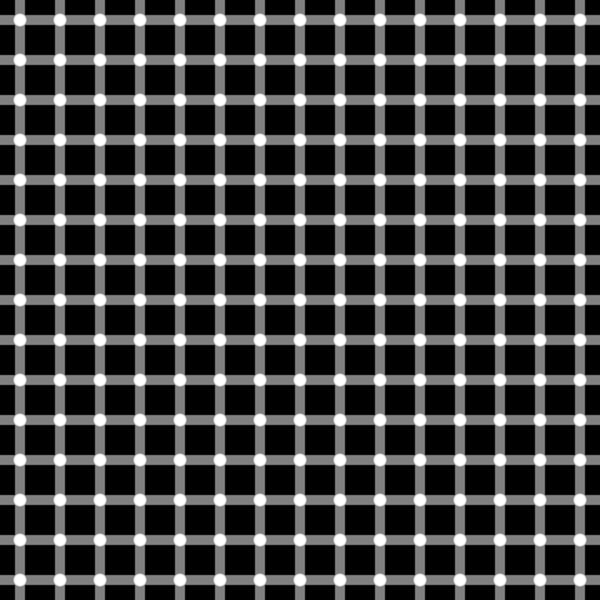 Can you count the black dots?  There are no black dots in this illusions, all the dots are white.