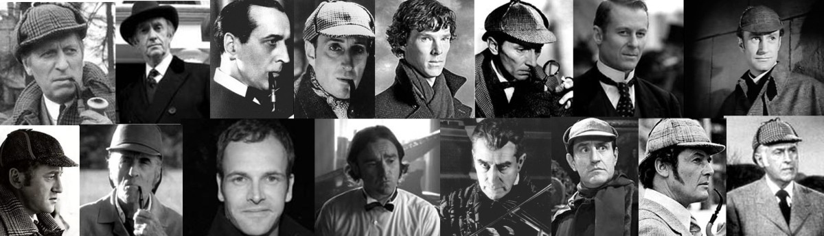 Just a few of the actors who've played Sherlock Holmes. See how many you can name (answers below).