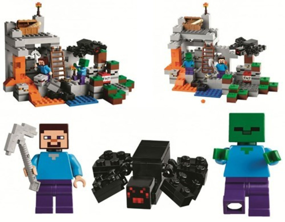 The resemblance to the Minecraft characters in 3D Lego is amazing