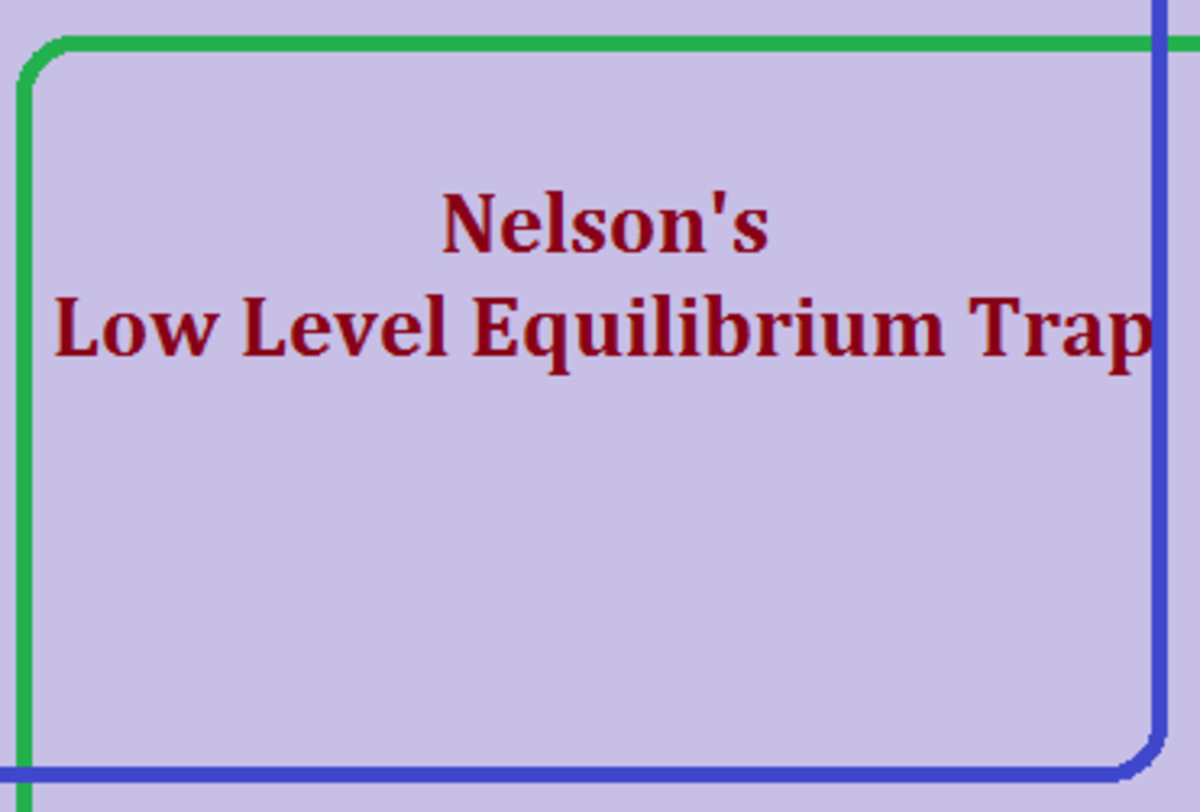 Nelson's Low Level Equilibrium Trap in Economics