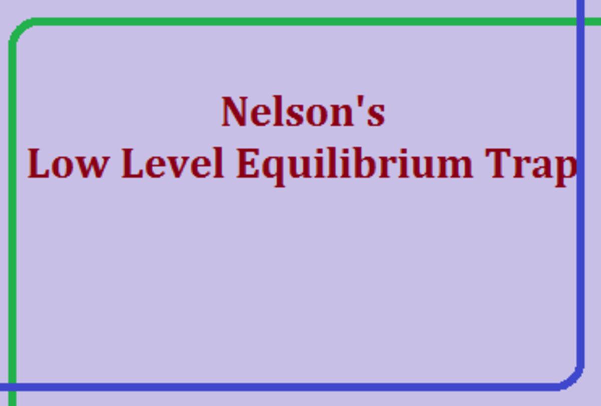 Nelson's Low Level Equilibrium Trap in Economics