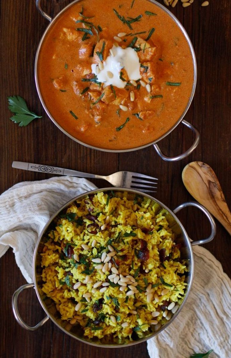 Traditional Indian meals featuring turmeric