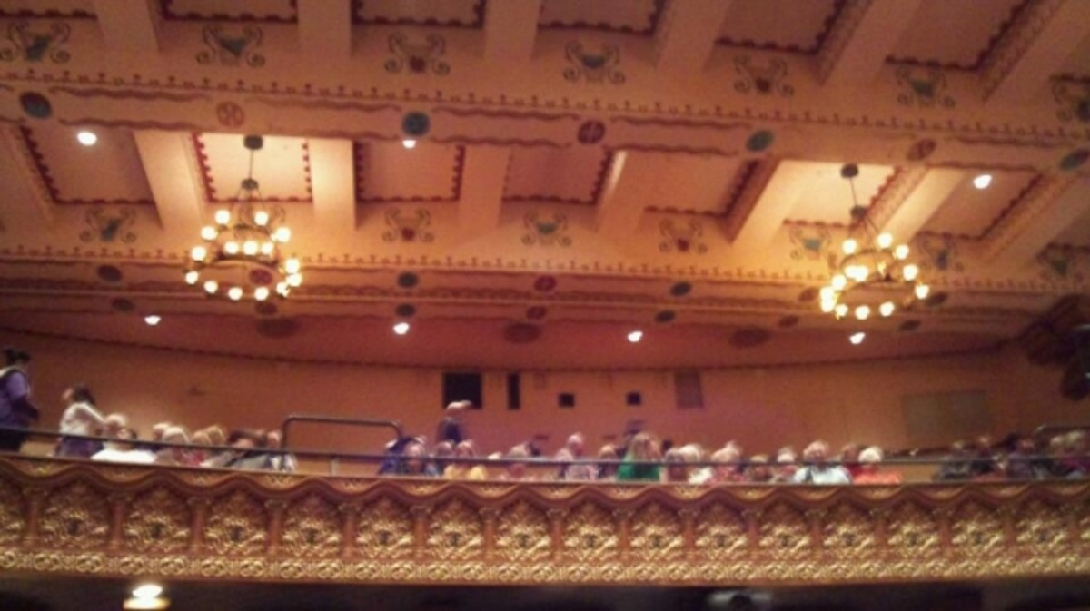 View of the balcony and ceiling in the Granada Theatre.  So grand!